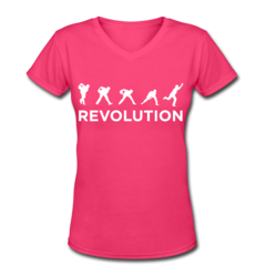 Women's V-Neck T-Shirt by Jason Belmonte