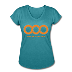 Women's V-Neck Tri-Blend T-Shirt by Will Gholston