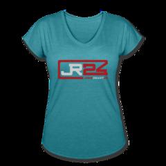 Women's V-Neck Tri-Blend T-Shirt by John Grant Jr