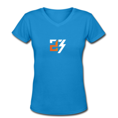 Women's V-Neck T-Shirt by Drew Snider