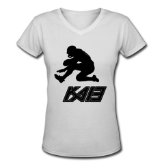 Women's V-Neck T-Shirt by Keenan Allen