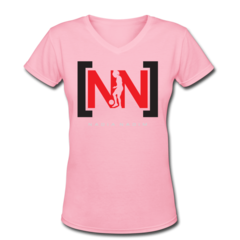Women's V-Neck T-Shirt by Nadia Nadim