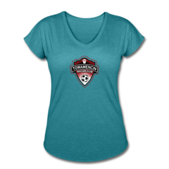 Women's V-Neck Tri-Blend T-Shirt by Towamencin Soccer Club