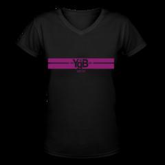 Women's V-Neck T-Shirt by YgB United