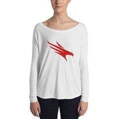 8852 Women's Flowy Long Sleeve Tee with 2x1 Sleeves