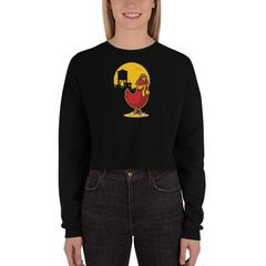 7503 Women's Fleece Crop Sweatshirt