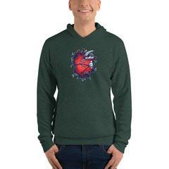 3719 Unisex Fleece Pullover Hoodie