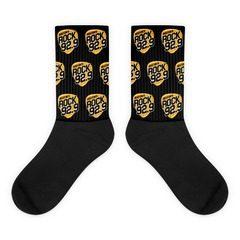 Black Foot Sublimated Socks