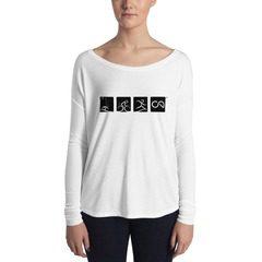 8852 Women's Flowy Long Sleeve Tee with 2x1 Sleeves